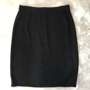 St. John Collection Santana Knit Black Skirt 12